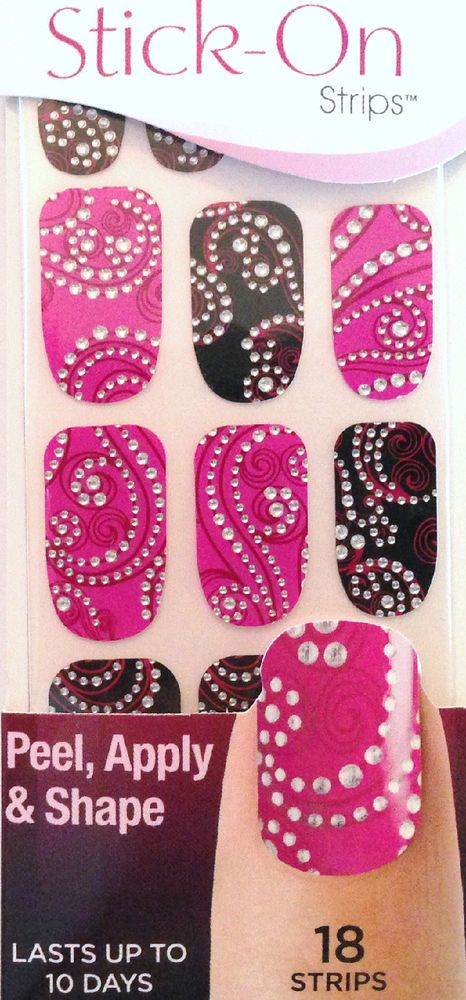 Kiss Nails Stick- On Nail Strips Nail Appliques # 58420 DGSS47 ...