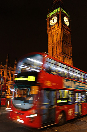 London's iconic red double decker bus