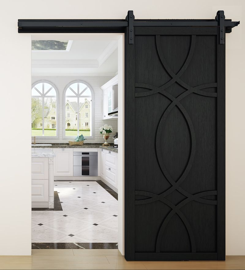 Elegant Sliding Barn Door In Midnight Stain From Rockwood Barn Doors Sliding Modern Barn Door Wood Barn Door