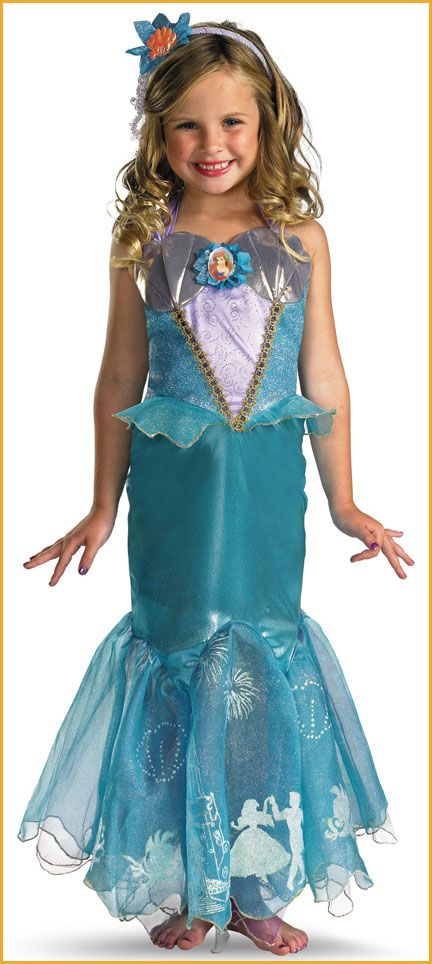 Princess Ariel.  sc 1 st  Pinterest & Little Mermaid Costumes Ariel Girls Deluxe   Ariel Mermaid and Costumes