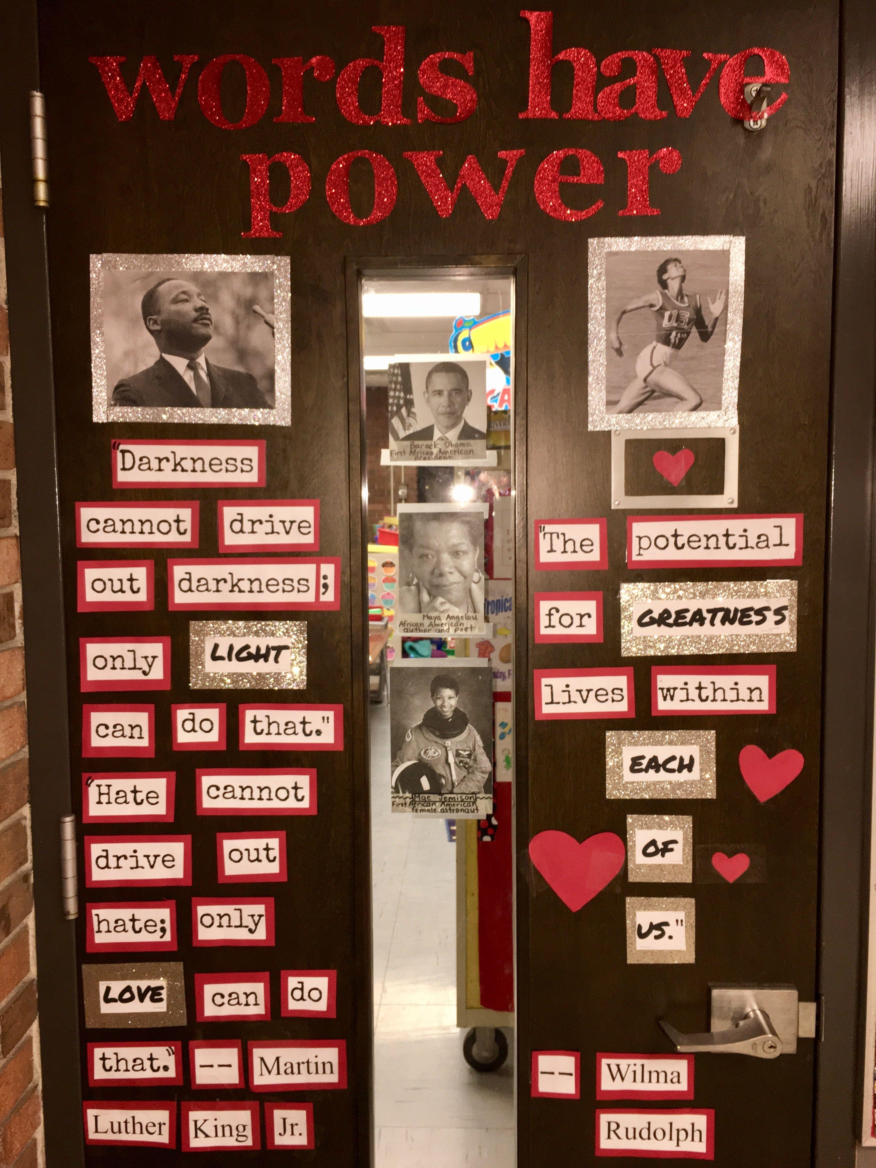 Black History Month Classroom Door Decoration
