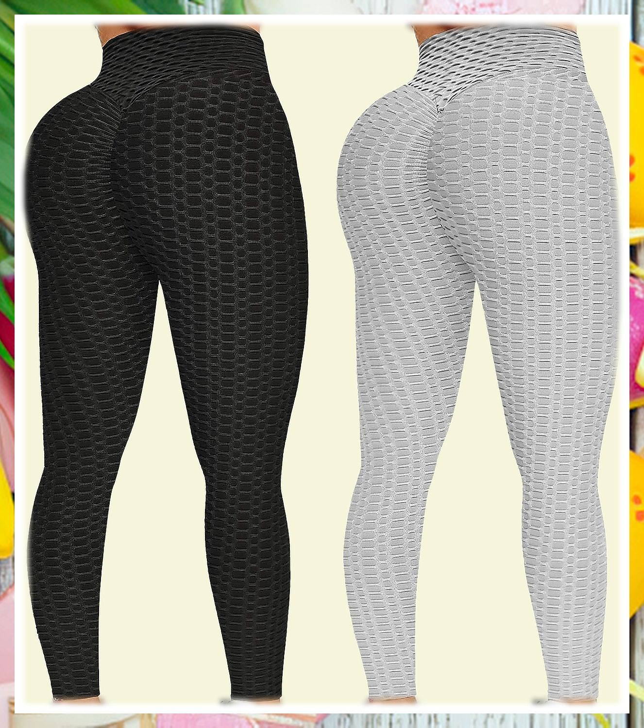 (This is an affiliate pin) Non-Cellulite, Non See Through & Sexy Butt Lifting Our Workout leggings with fantastic 3D texture design