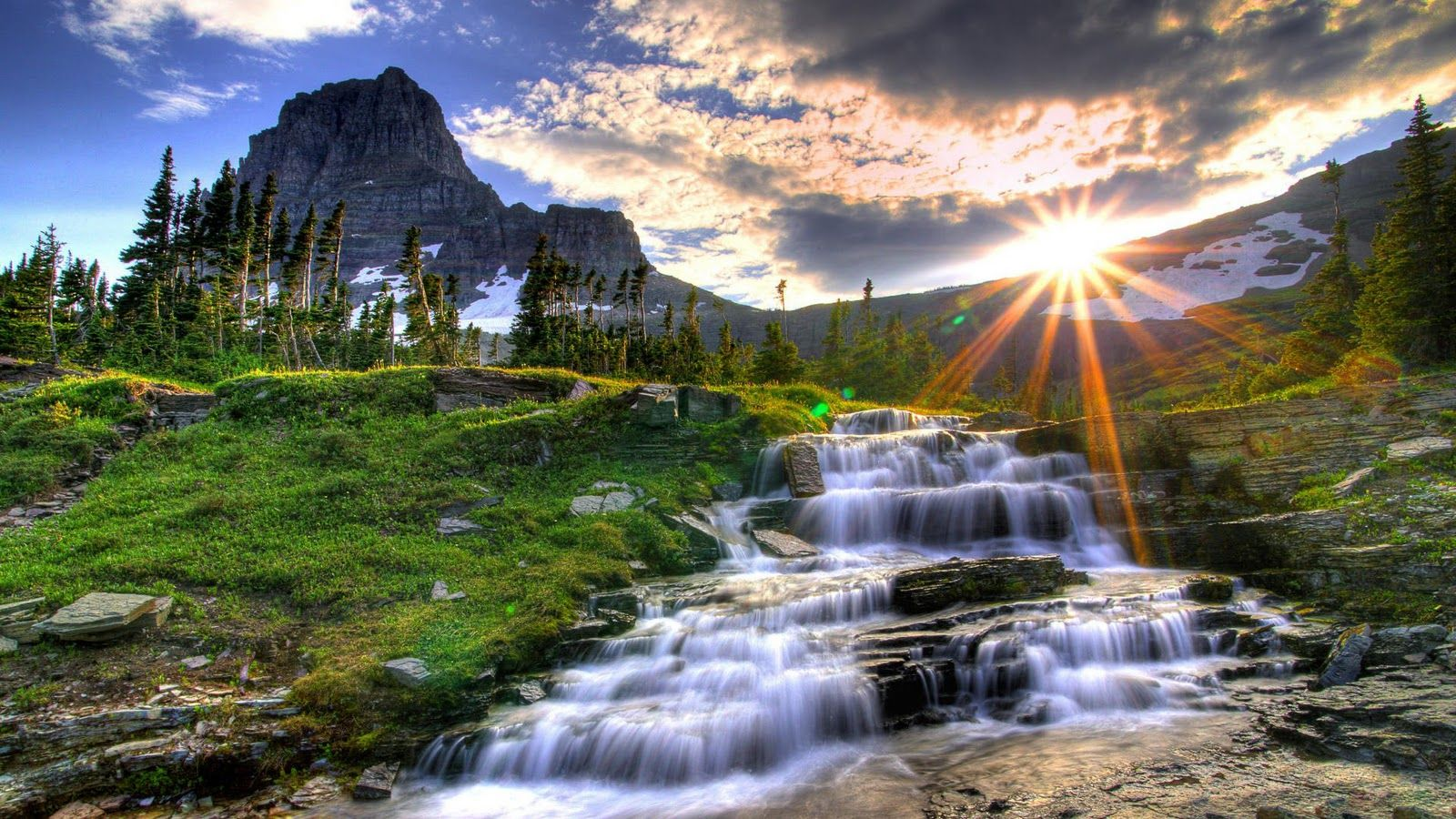Nice High Resolution Nature Wallpapers Waterfall Beautiful Landscapes Waterfall Wallpaper
