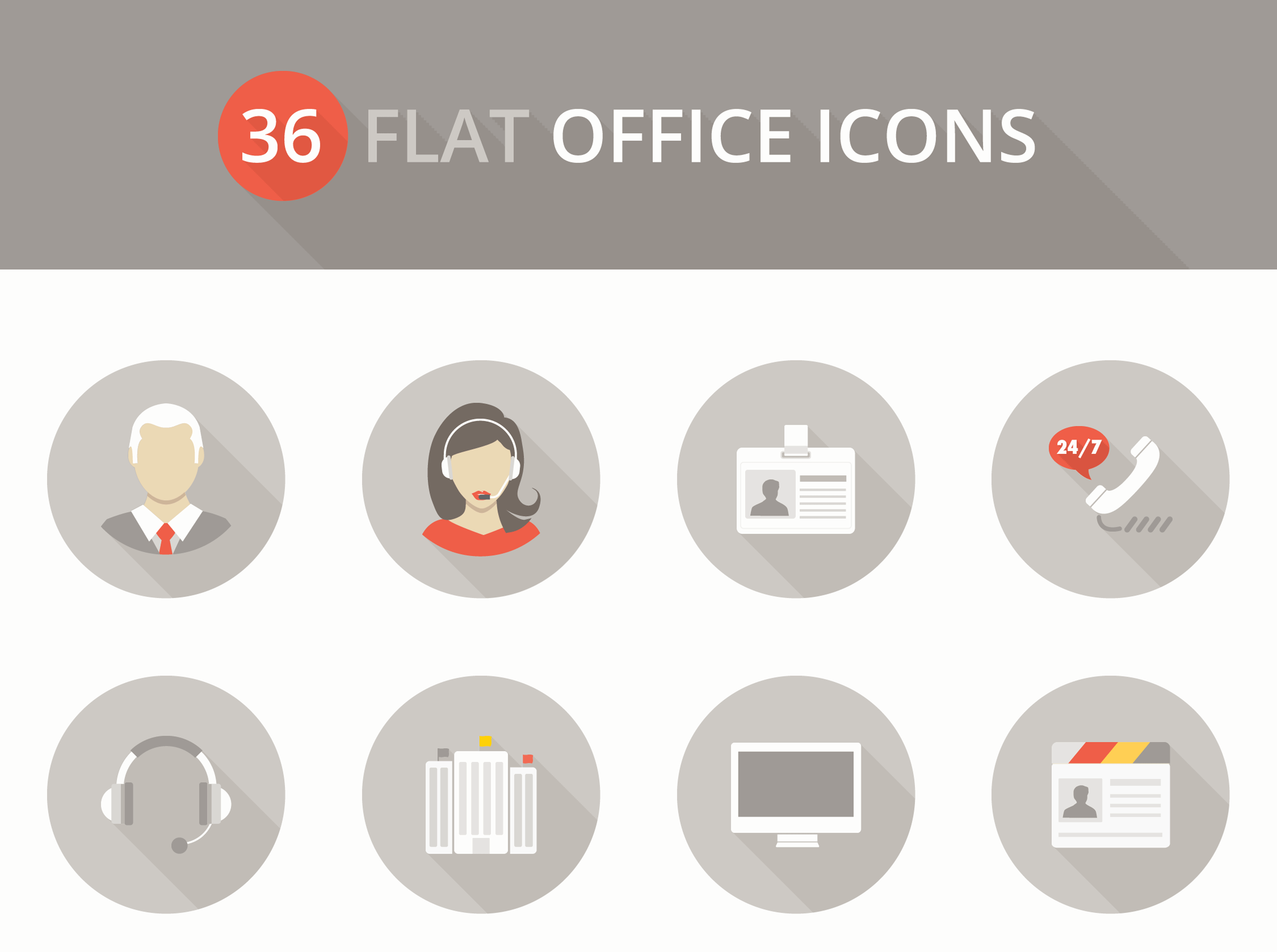 36 free flat icons for your next productivity app (With