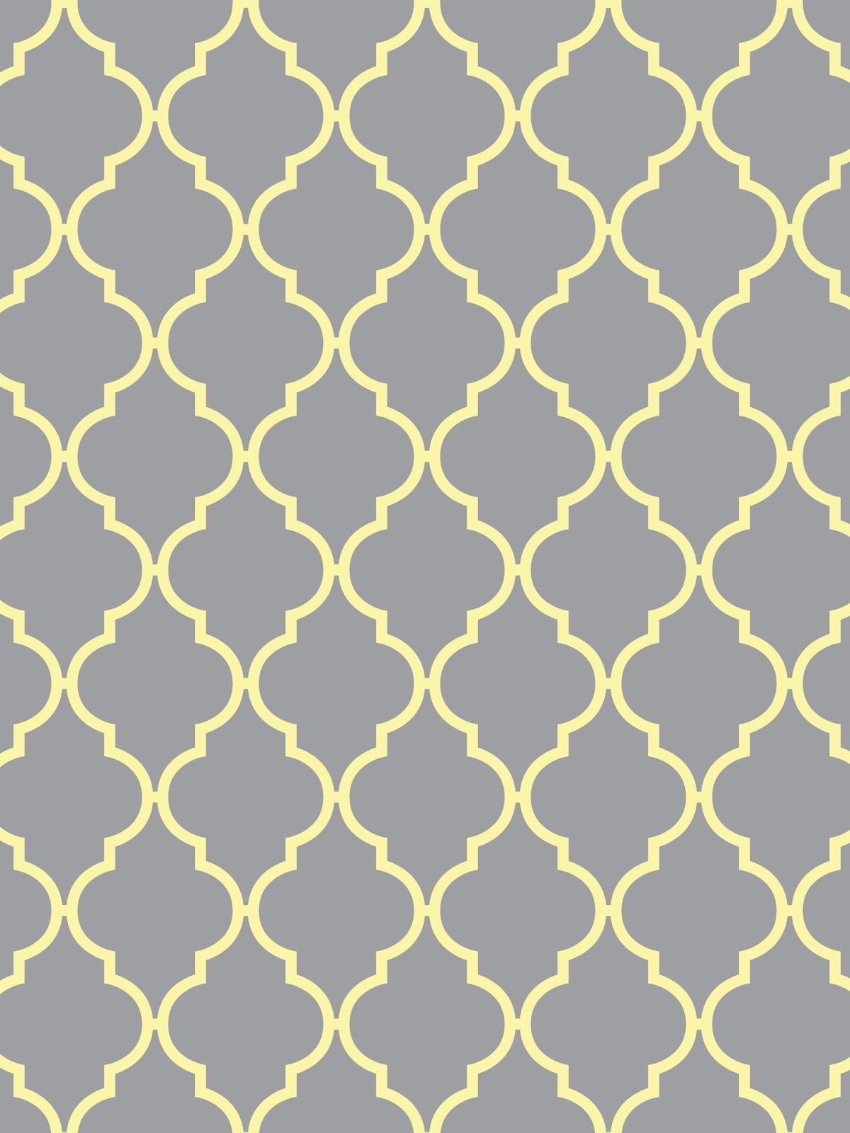 Create Printables Backgrounds Wallpapers Quatrefoil Light Gray With Yellow Aqua Pink White
