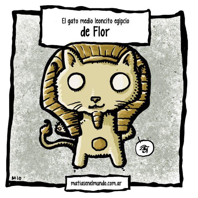 """la mascota imaginaria de flor! """"Siempre quise una mascota con mezcla de gato y leoncito que tenga su pelo con forma de Faraon egipcio.. Sería genial!"""""""