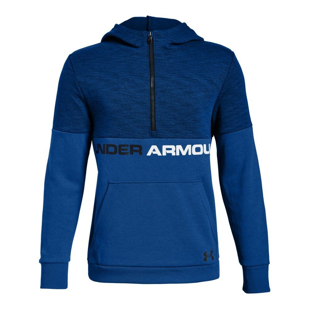 1268057057 Boys' UA Double Knit ½ Zip Hoodie | Under Armour US in 2019 ...