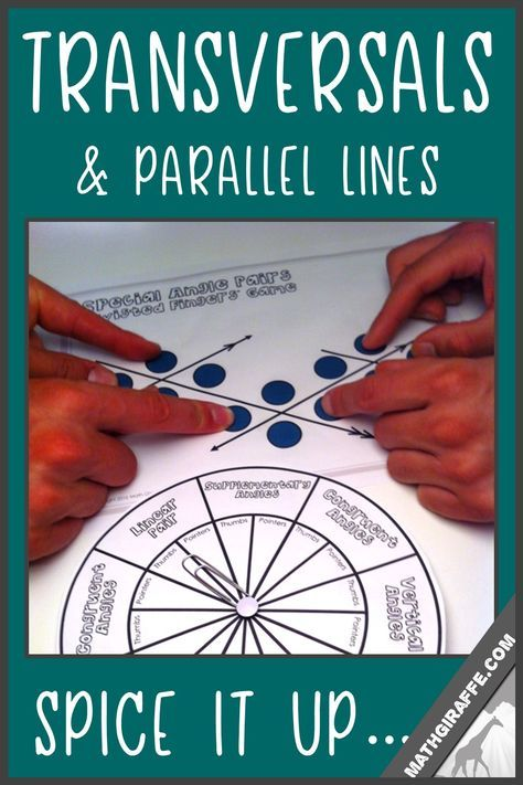 Fun Activities For Transversals Special Angle Pairs And Parallel