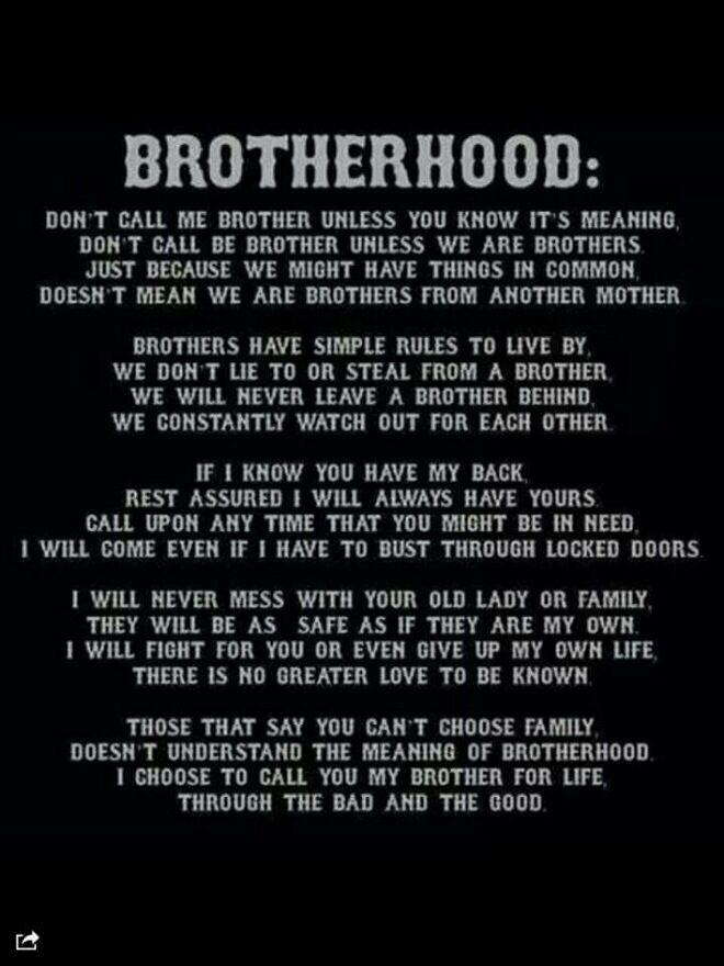 Respect Brotherhood Quotes Firefighter Brotherhood Quotes Biker Quotes