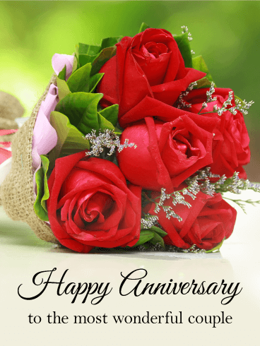 To The Most Wonderful Couple Happy Anniversary Card Birthday Greeting Cards By Davia Happy Anniversary Cards Happy Anniversary Messages Happy Anniversary Quotes