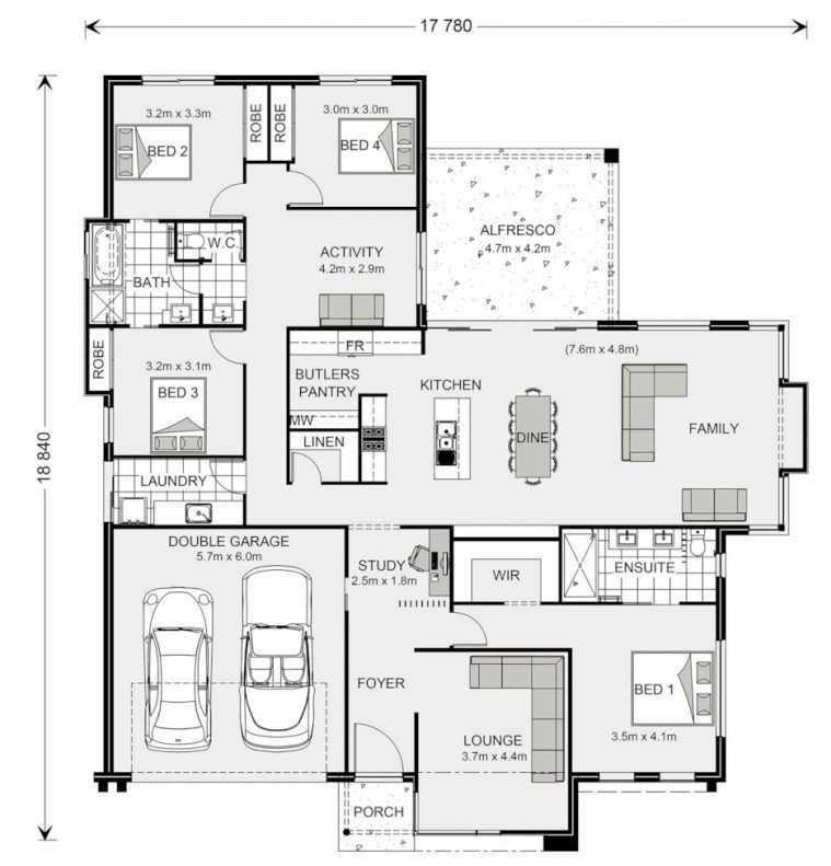 Floor Plan Friday Jack And Jill Bathroom For The Kids My House Plans Dream House Plans Bathroom Floor Plans