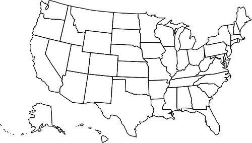 Usa Map Usa Karte Karten Und Leere