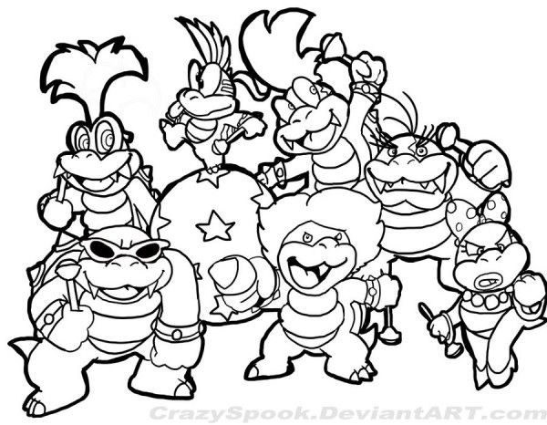 Super Mario Koopaling tzKEu   Coloring Pages For Kids ...