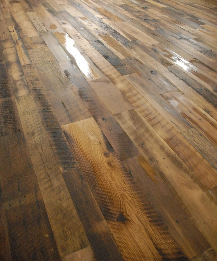 Engineered Wood Flooring - Kitchen Sink Mixed Hardwoods Blend | Reclaimed Lumber Products