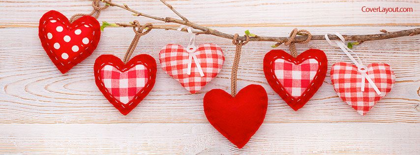 hanging hearts facebook cover coverlayout com