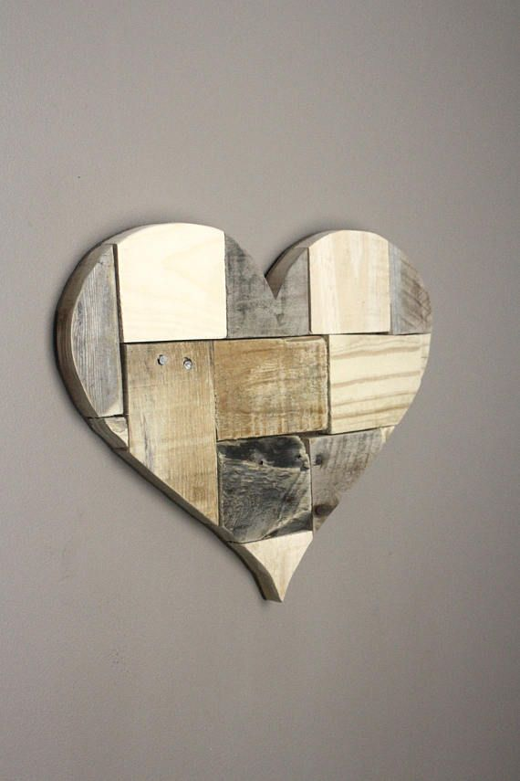 Wooden Heart. Wall art. Pieces of my Heart. Reclaimed wood. & Wooden Heart. Wall art. Pieces of my Heart. Reclaimed wood. | Love ...