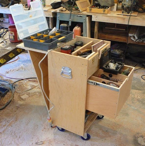 wood rolling tool chest plans | wood working | Pinterest | Woods ...