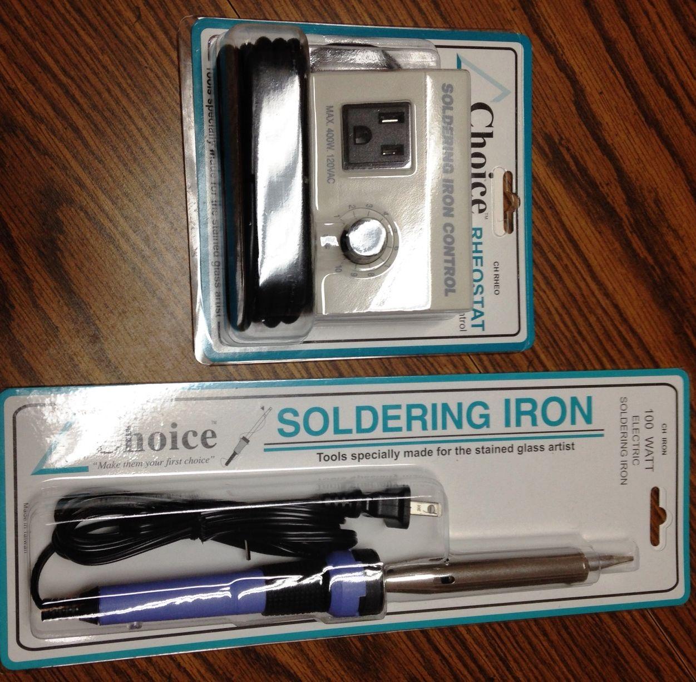 Soldering Iron and Rheostat Pack - Choice 100 Watt Iron plus the Choice Rheostat (temp control) - Glass Supplies