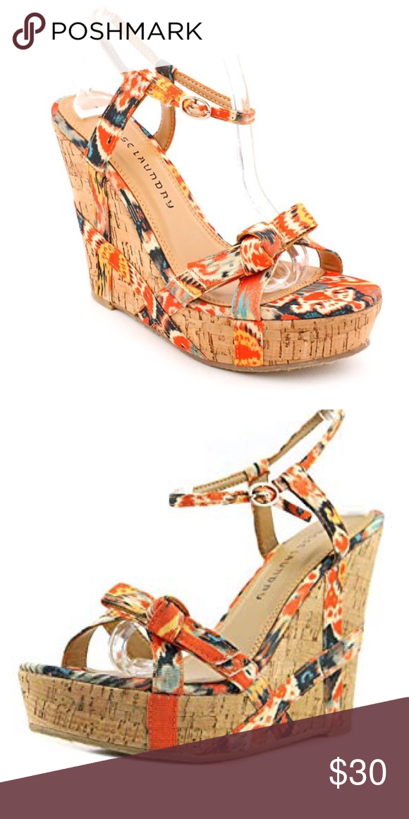 Chinese Laundry Platform Cork Wedge In Danger Game Wedges