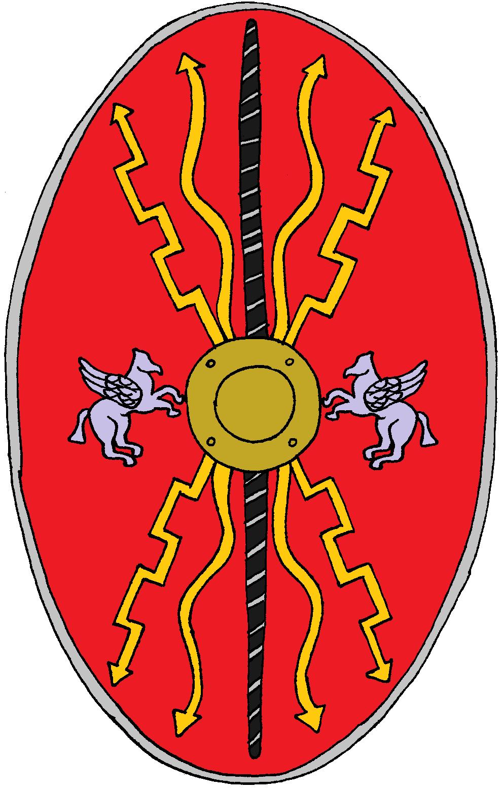 Roman Cavalry Shield 1 Rom Romische Legion Altes Rom