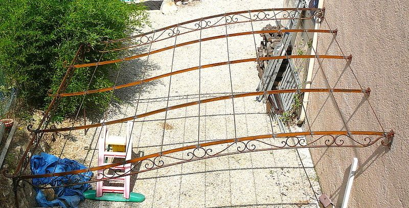 Grande pergola jpg pinterest pergola terrasse - Plan pergola fer ...