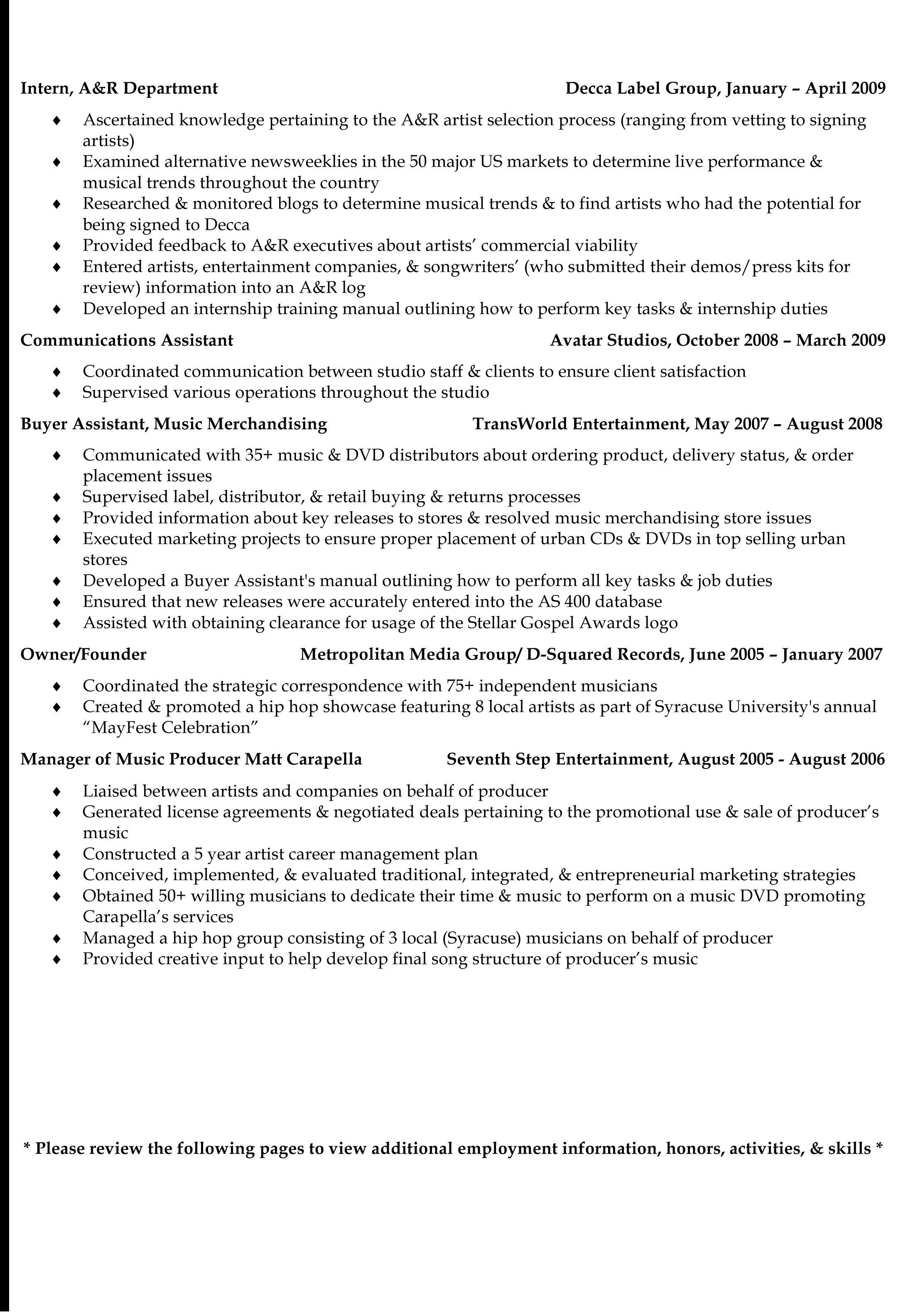 Kathryn Sano S Events Marketing Resume Page 4 Kathryn N