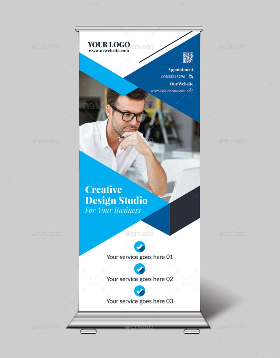 Roll Up Banner Bundle Roller Banner Design Pull Up Banner Design Company Brochure Design