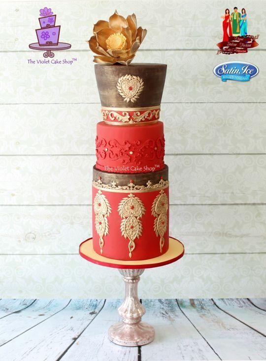 SINDOOR & GOLD - Elegant Indian Fashion Collaboration Cake | Craftsy