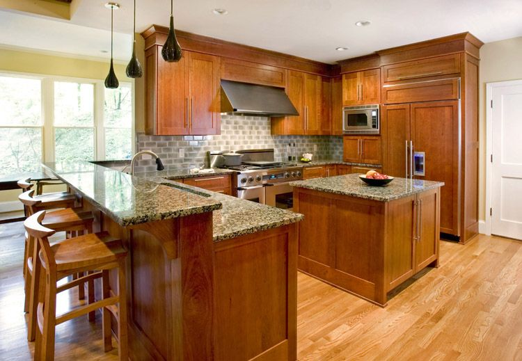 Baltic Brown Granite Dark Cabinets Backsplash Ideas ... on Black Granite Countertops With Brown Cabinets  id=52901