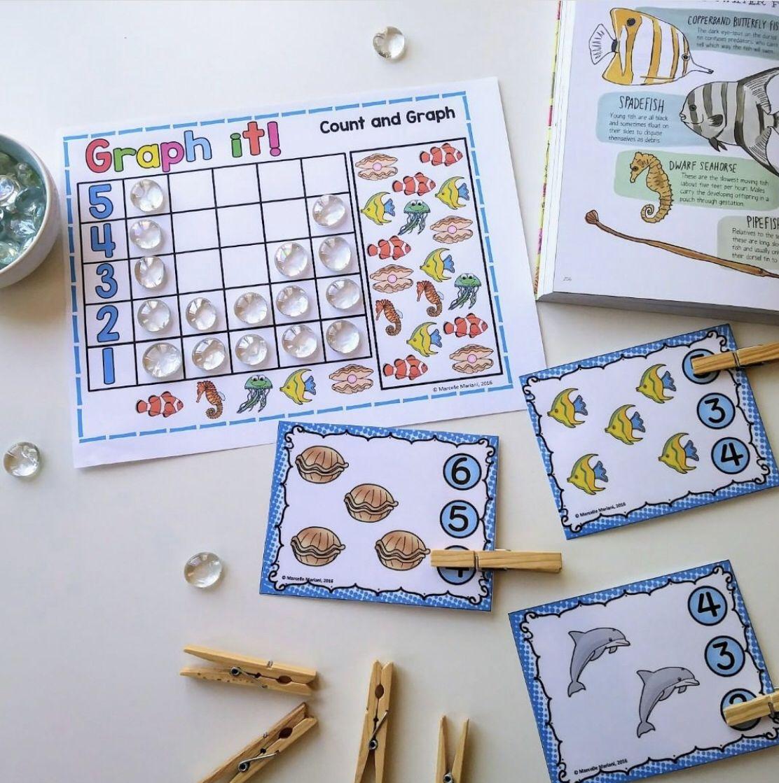 Ocean Animals Sea Life Literacy Science Math Lesson