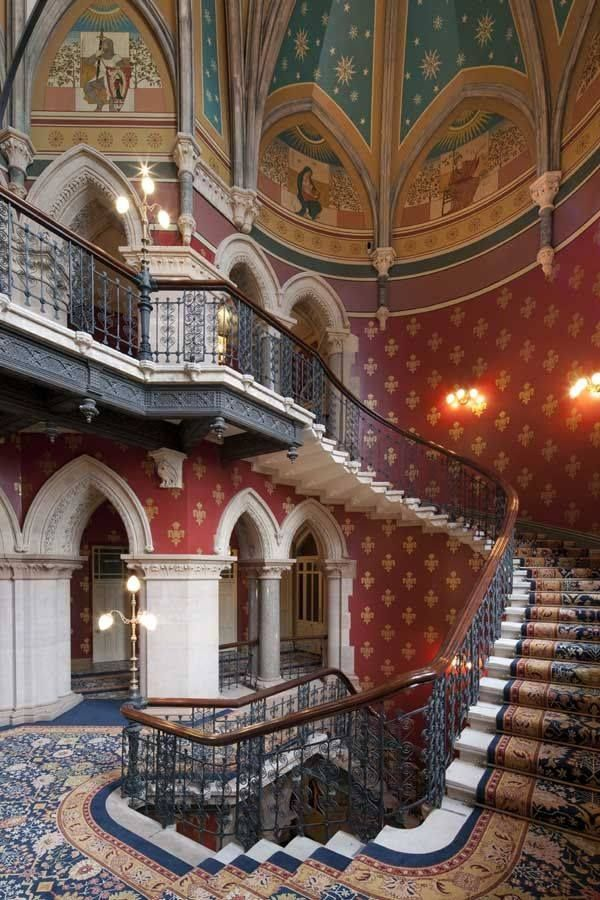 St Pancras Hotel London Escalera De Lujo Escaleras Arquitectura