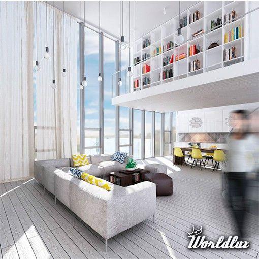Wondrous white three lofts with clean bright interiors