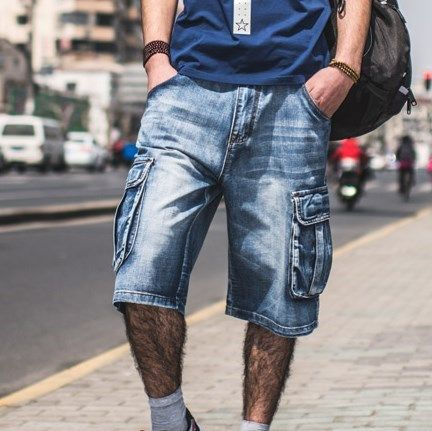 baggy jean shorts mens