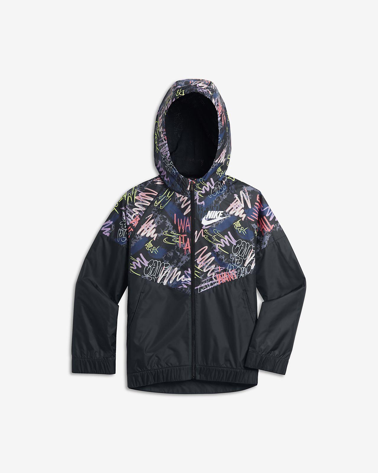 f53e91cac8da9 Nike Sportswear Windrunner Big Kids' (Girls') Printed Jacket | Brynn ...
