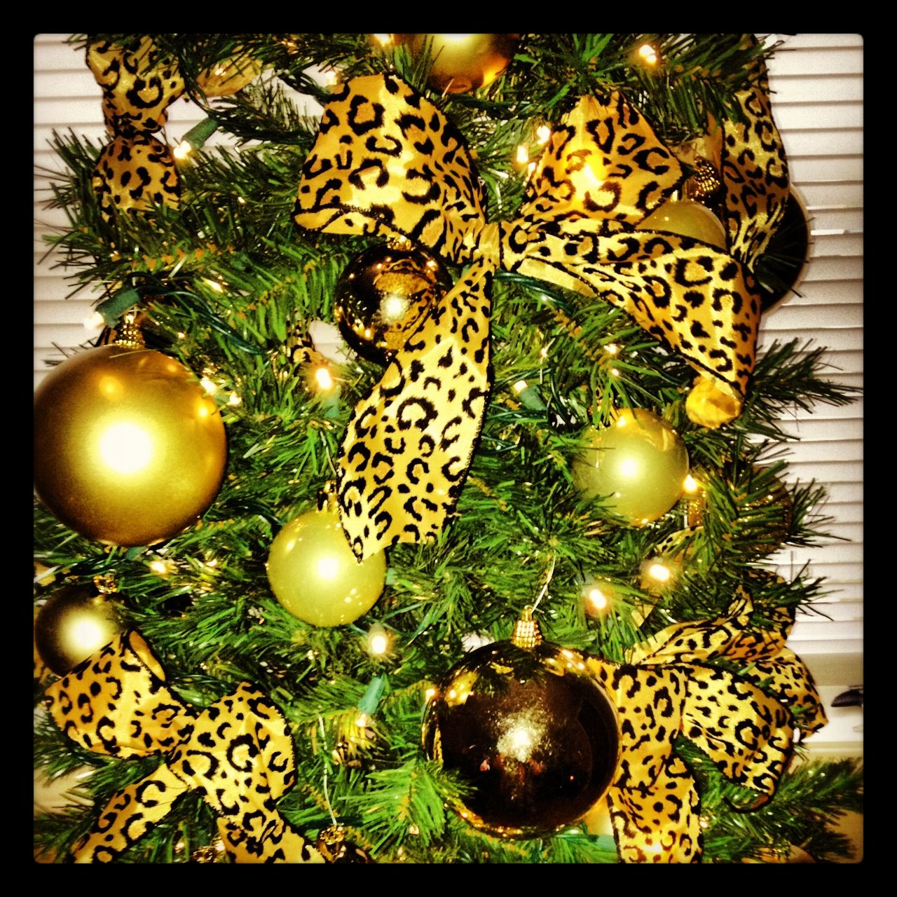 My Cheetah Christmas Tree!