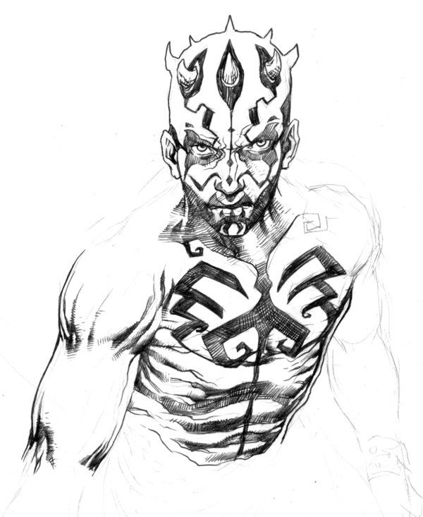 Darth Maul quick drawing by niezamcomic on DeviantArt