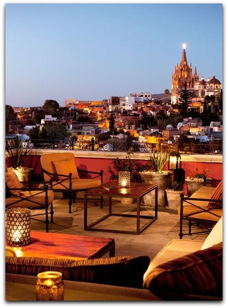 Rooftop Bars Restaurants Design San Miguel De Allende