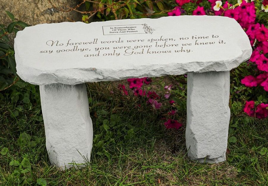Excellent Personalized Memorial Bench No Farewell Words In 2019 Ncnpc Chair Design For Home Ncnpcorg