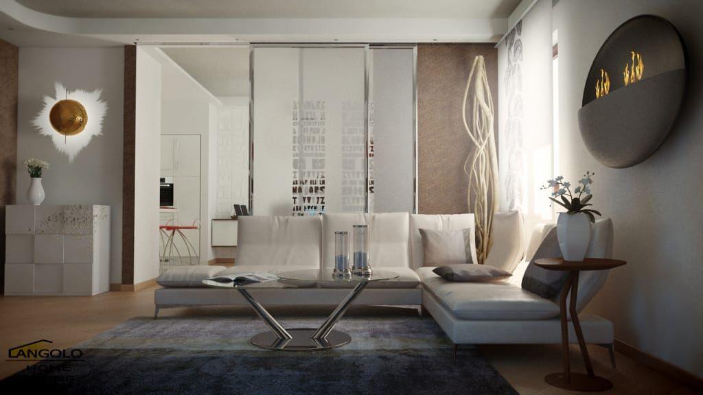 Photo of Accogliente soggiorno eclettico soggiorno di angolo casa eclettico vivere a casa