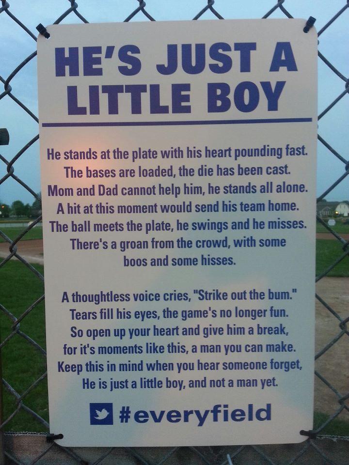 Look Viral Poem Spreads Across Little League Baseball Fields Little League Baseball Son Quotes Little League