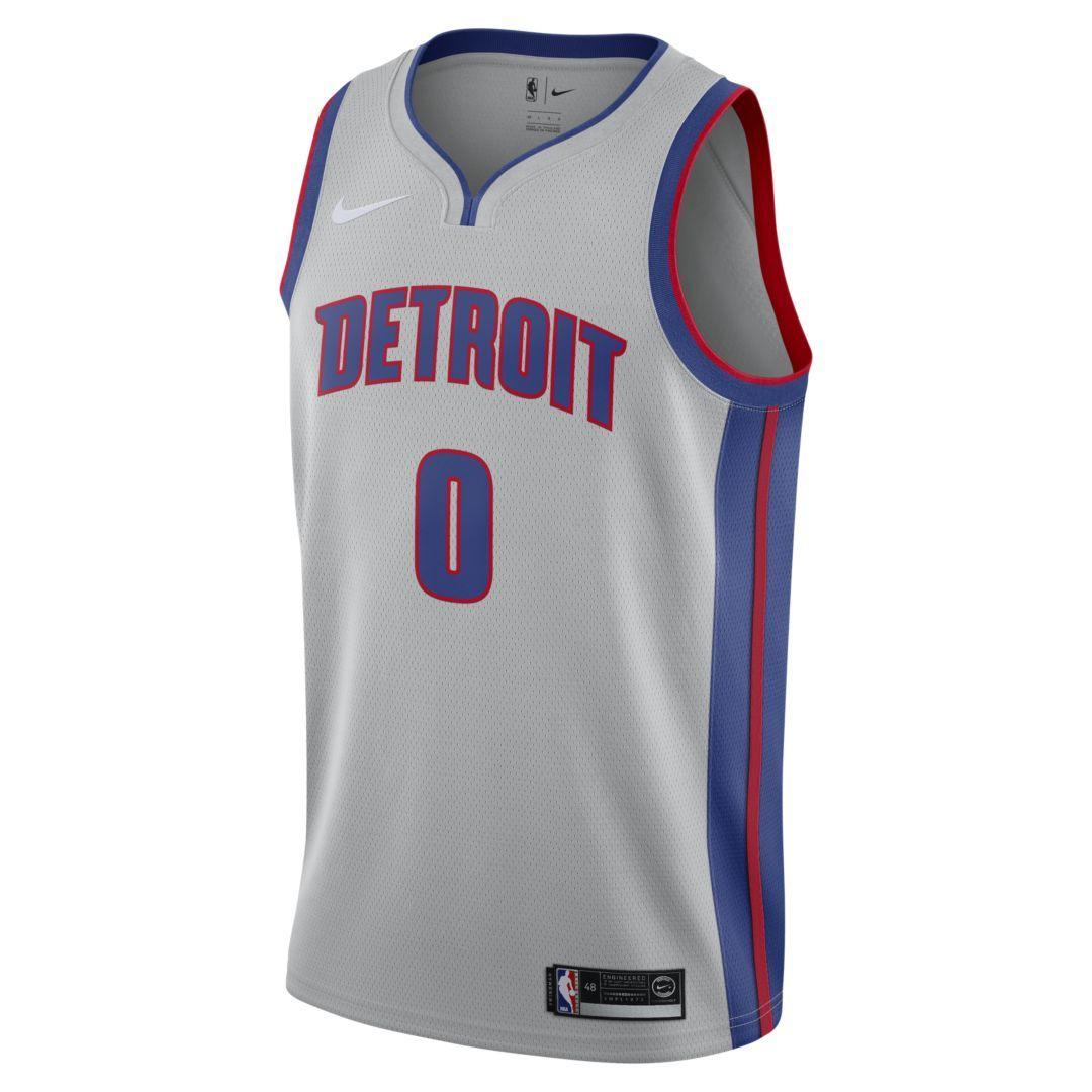 ae8da986251 Andre Drummond Statement Edition Swingman Jersey (Detroit Pistons) Men s  Nike NBA Connected Jersey Size L (Flat Silver)