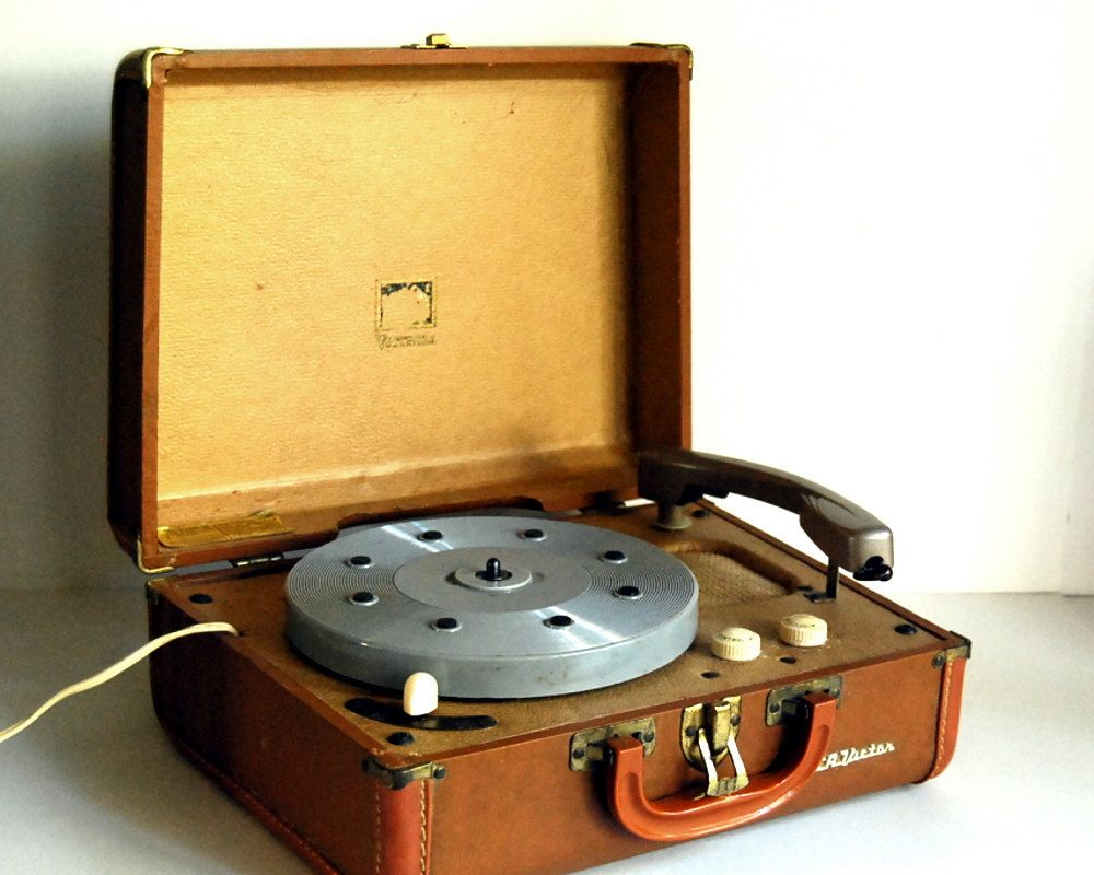 Vintage Record Player Rca Victor Portable 1950s Turntable