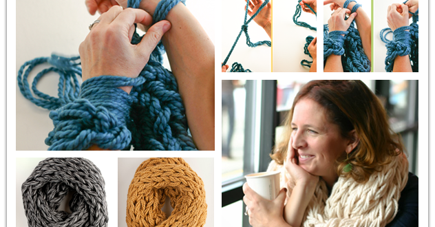 Photo of DIY Arm Knitting Scarves