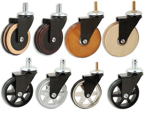 Wooden Aluminum Casters Industrial, Wooden Furniture Wheels