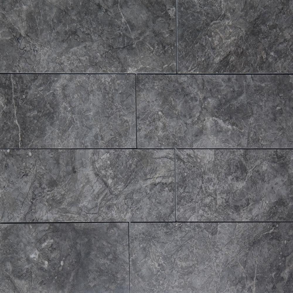 4 X 12 Tile Dark Grey Marble Polished Marble Polishing Marble
