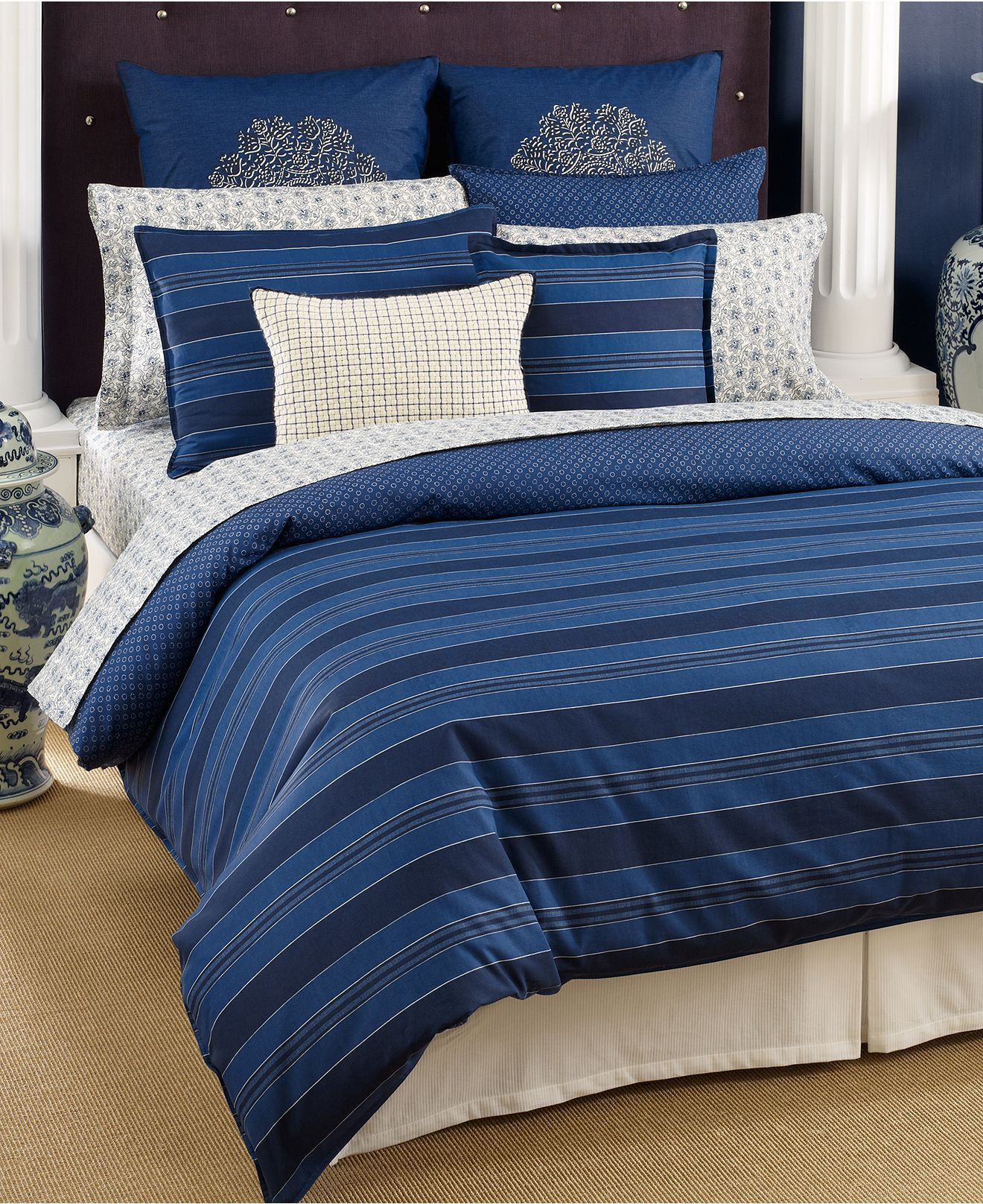 Tommy Hilfiger Bedding Westerly Stripe forter and Duvet Cover