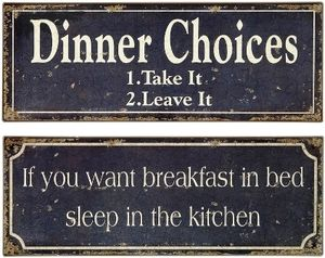 Breakfast and Dinner Signs - Set of 2