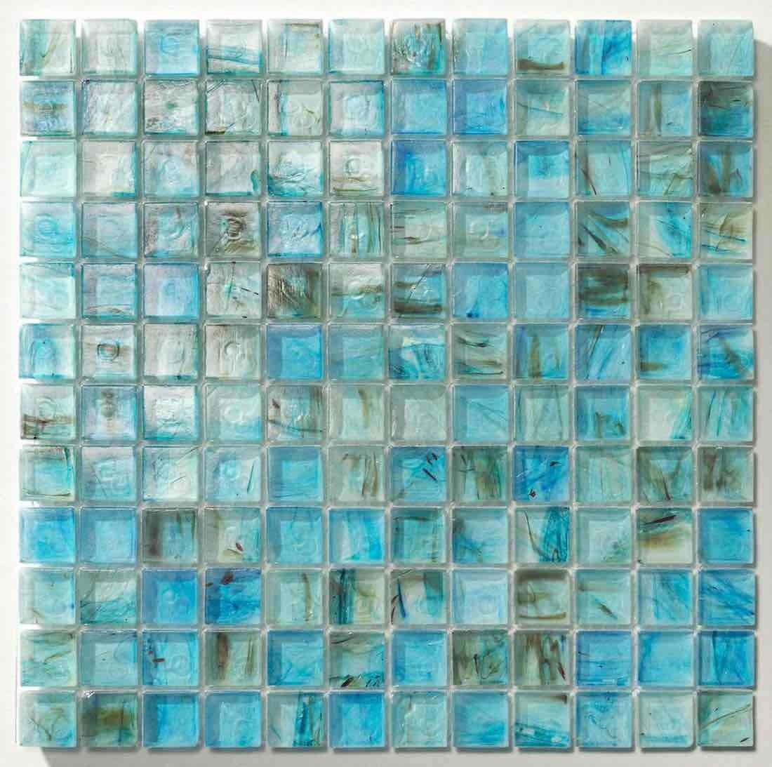 Clear Glass Mosaic Tile Stained Ocean Blue 1 X 1 Tile Stained Mosaic Glass Glass Mosaic Tiles