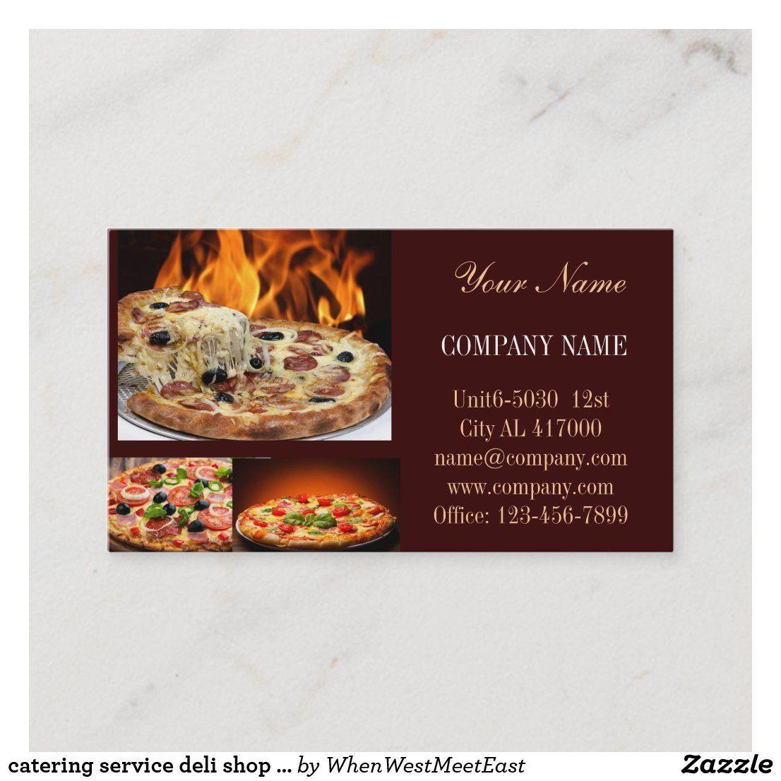 catering service deli shop Italian Food pizza Business Card | Zazzle.com