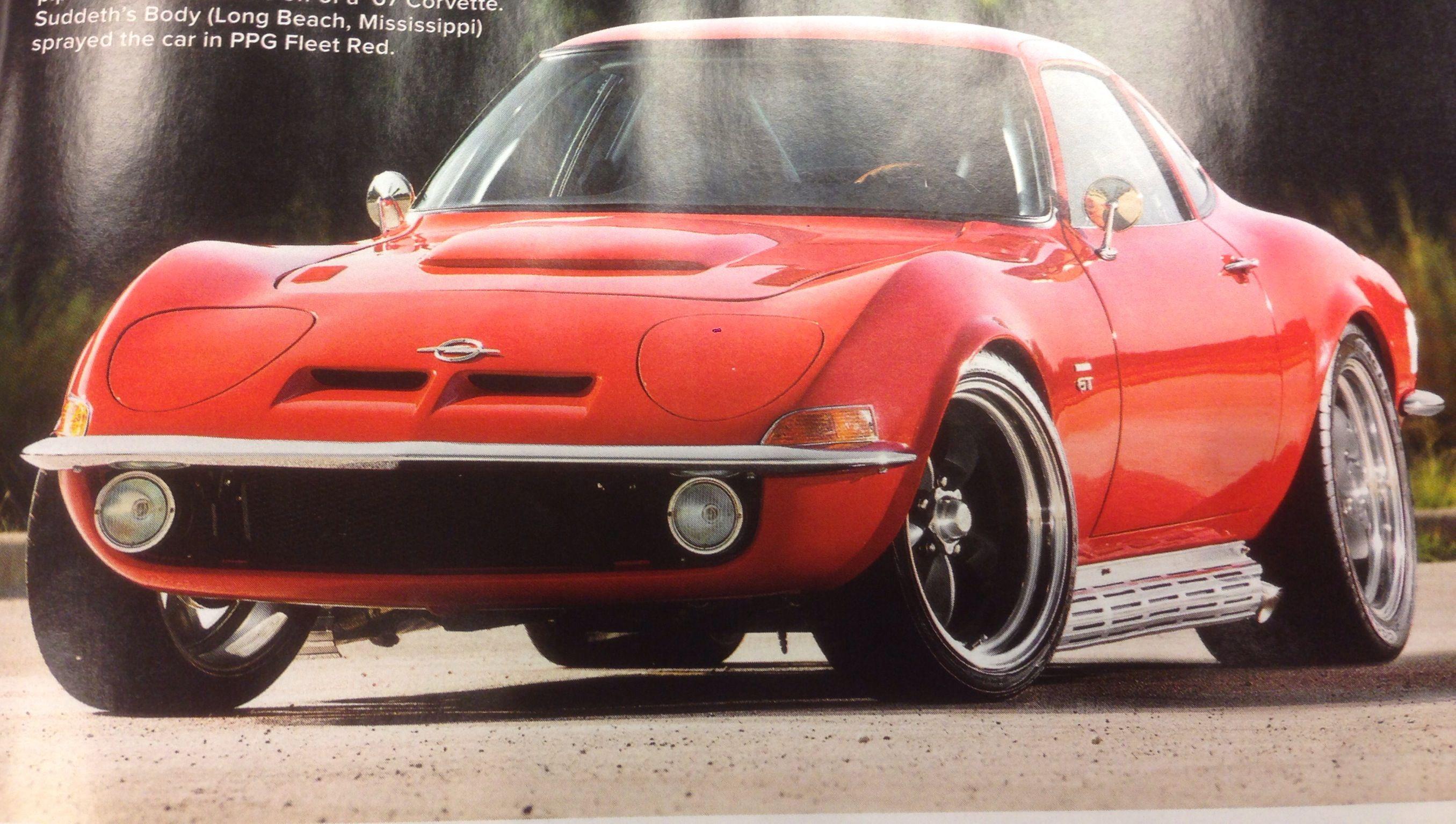 Resto Modded Wild Buick V8 Powered Opel Gt Opel Custom Cars Buick